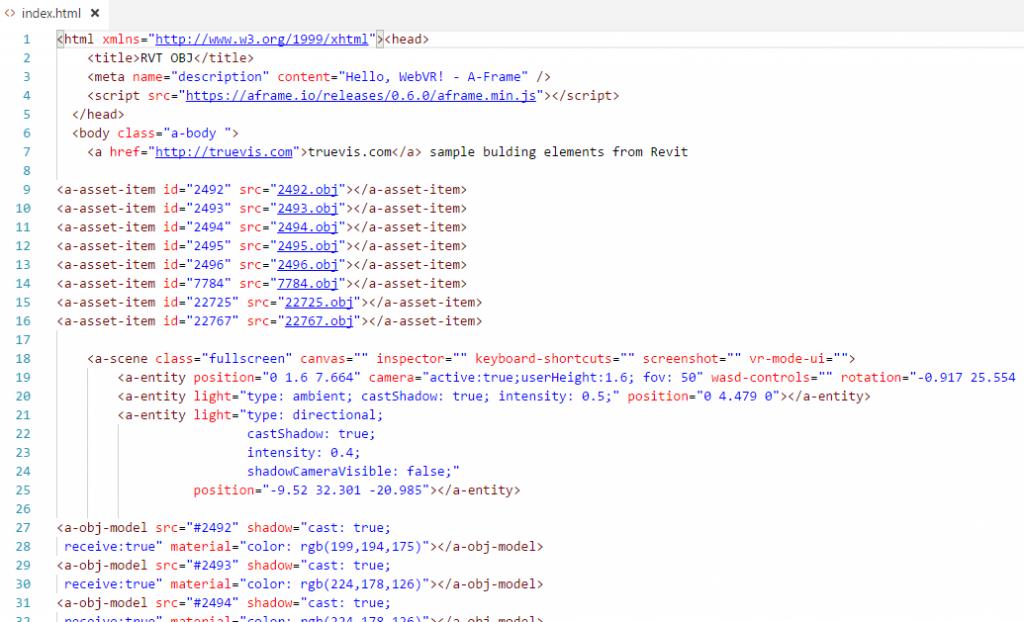 A-Frame HTML