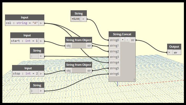 Excel Sum String